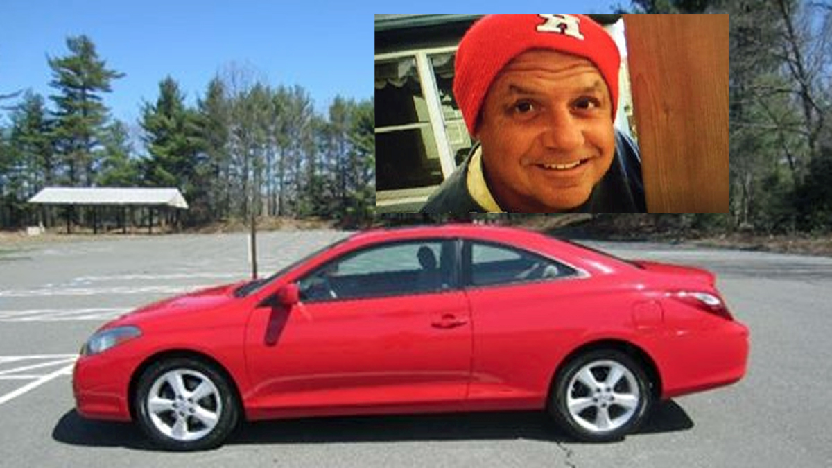 Police released these photos of a suspect and car he allegedly stole from a woman he met on an online dating website.