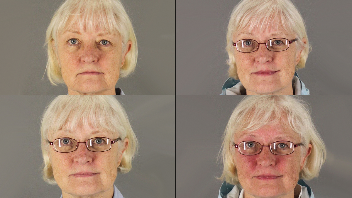 Marilyn Hartman, 62, is shown in four mugshots taken after separate arrests at San Francisco International Airport.