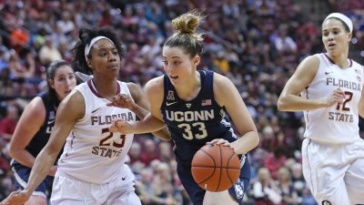 No. 3 UConn Holds Off No. 12 FSU to Extend Win Streak to 76