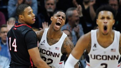 UConn's Larrier Out for Rest of Season With Torn ACL