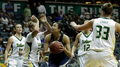 Collier Scores 39, Top-Ranked UConn Routs USF