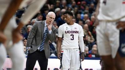 Adams, Gilbert Help Lift UConn Over SMU 76-64