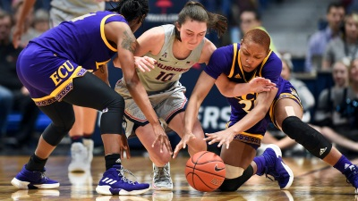 UConn Routs ECU, Gets to 20 Wins for 26th Straight Year
