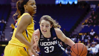 Samuelson Drops 28 on LSU in 76-53 UConn Win