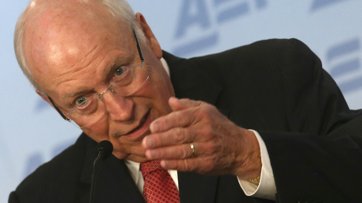 Former US Vice President Dick Cheney speaks about the situation in Syria and Iraq regarding the terrorist group ISIS, at The American Enterprise Institute for Public Policy Research (AEI), September 10, 2014 in Washington,