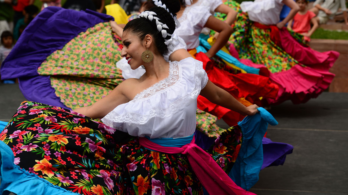 Dancers celebrate Cinco de Mayo.