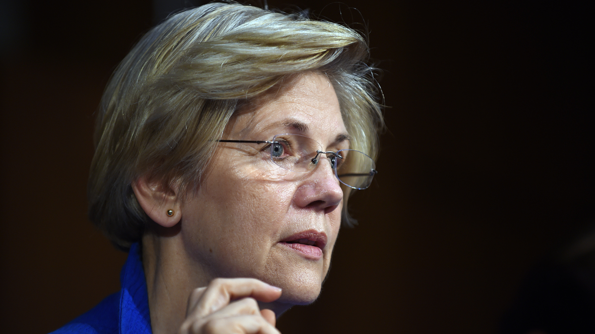 Sen. Elizabeth Warren at a hearing of the Senate Health, Education, Labor, and Pensions Committee on July 29, 2015, in Washington, D.C. She is expected to endorse Hillary Clinton for president on Thursday, June 9, 2016.