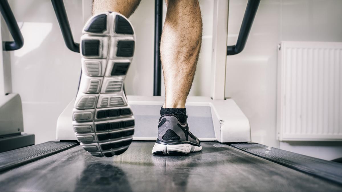 File photo: Man running on treadmill.