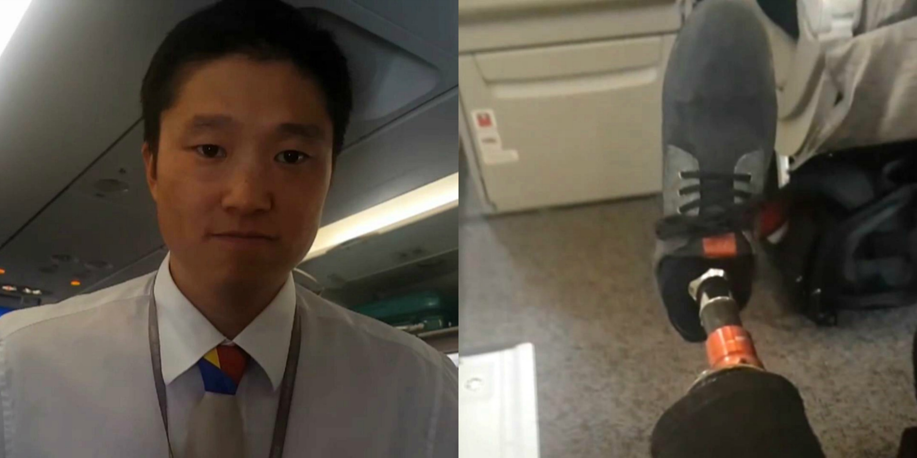 A man with a prosthetic leg claims he was discriminated against after he was asked to vacate his exit row seat on an Asiana Airlines flight. (May 21, 2017)