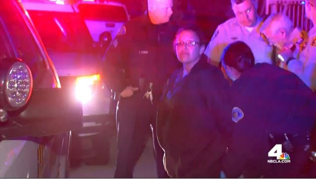 A pursuit ends with an arrest of a woman in Whittier on Friday, May 8, 2015.