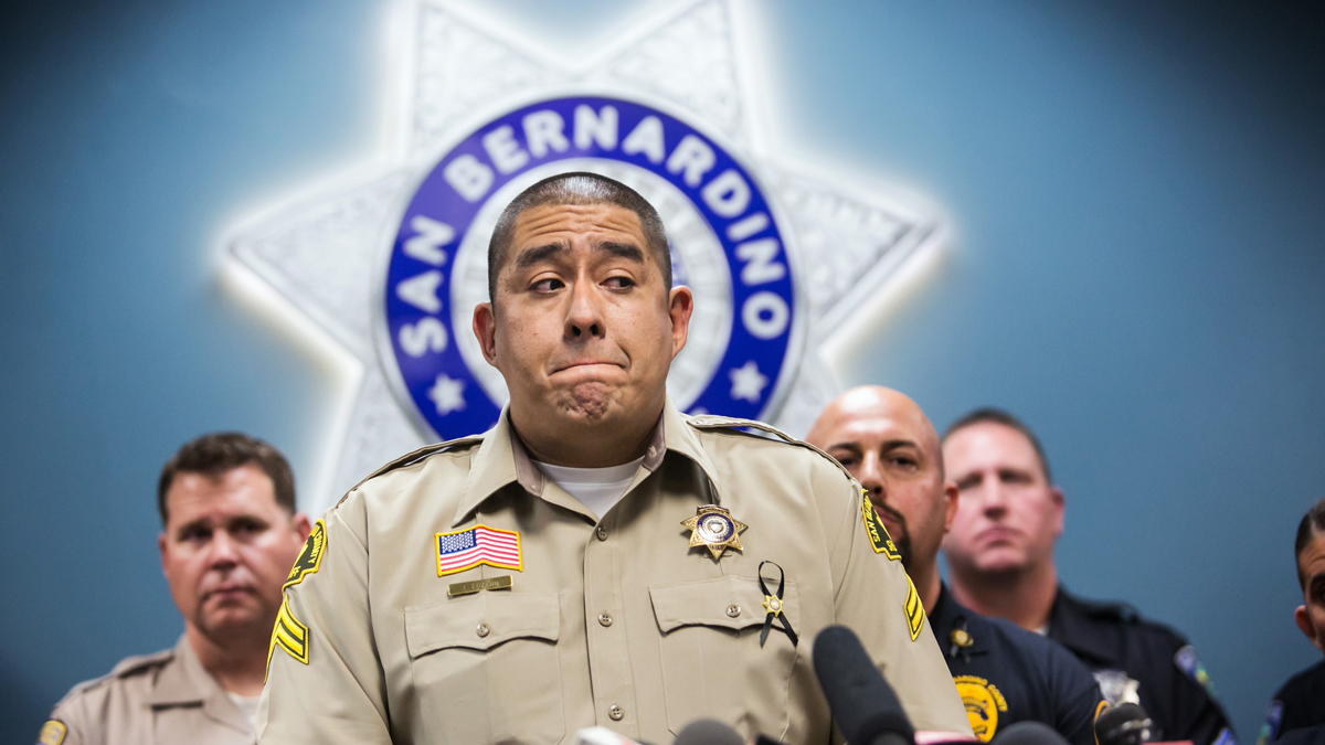 Detective Jorge Lozano of the San Bernardino County Sheriff's Department, recounts the events in the hallway where he infamously said,