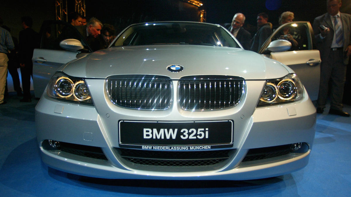 File - German luxury car maker BMW presents a car of its new BMW 3 series 03 March 2005 in Munich.