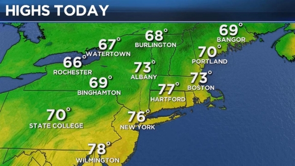 Albany Weather Map.Sunday Morning Weather Forecast Nbc Connecticut