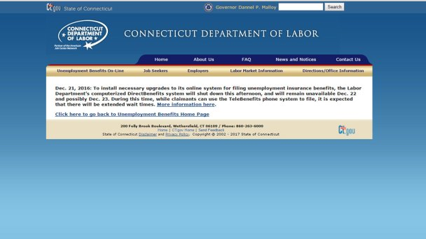 DOL Online System Shuts Down For Upgrade
