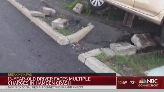 13-Year-Old Crashes Car in Hamden