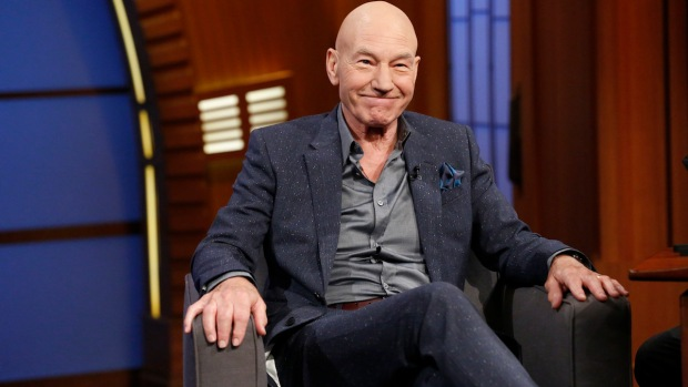 "[NATL] Patrick Stewart Talks Ricky Gervais, ""X-Men"" on ""Late Night"""