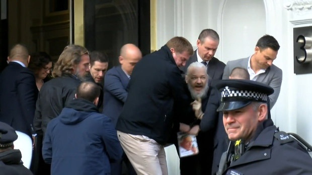 [NATL-DO NOT USE] 'WikiLeaks' Founder Julian Assange Arrested, Taken Out of Ecuador Embassy