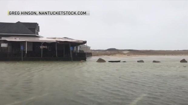 Flooding in Nantucket, Massachusetts