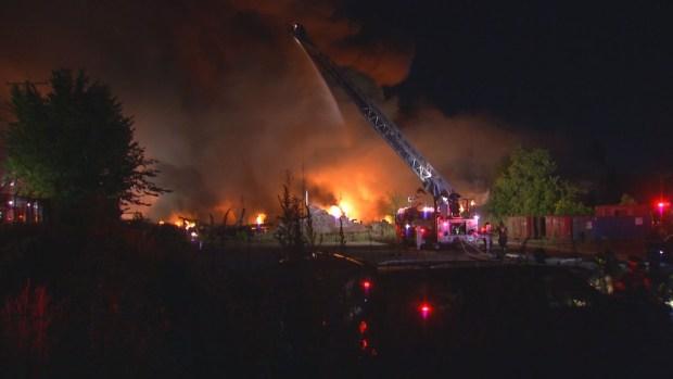 Neighbors Return Home After Bridgeport Factory Fire