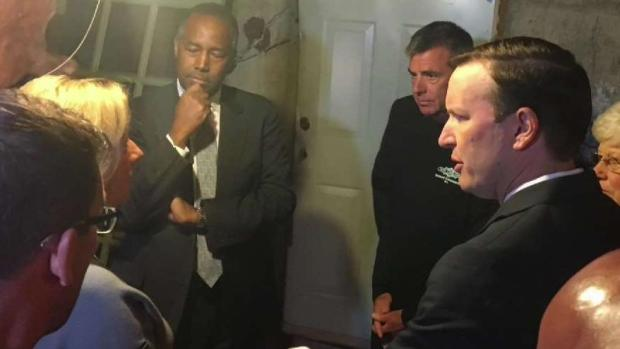 [HAR] Ben Carson Tours Home With Crumbling Foundation