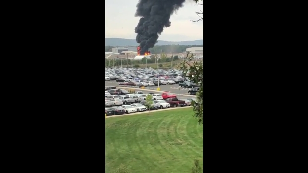[HAR] Video Shows Fire After Plane Crash at Bradley Airport