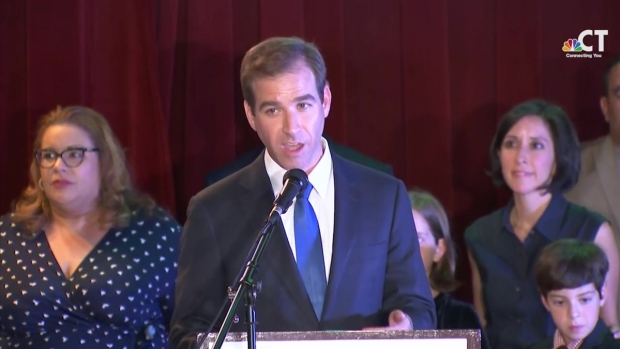 Bronin Addresses Supporters After Claiming Victory in Hartford Mayoral Primary