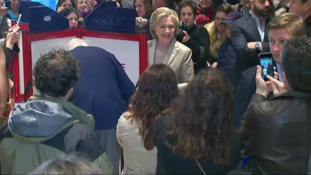 Lines Wrap Around Polling Places in Historic U.S. Election