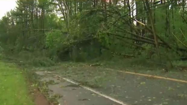 [HAR] Crews in Hamden Cleaning Up After Storm