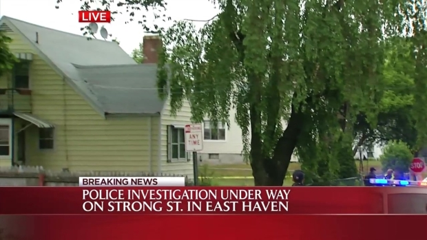[HAR] Crime Scene Tape Up Around East Haven Home