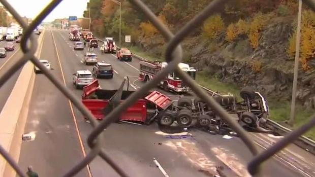 [HAR] Driver Dead in Milford Dump Truck Crash