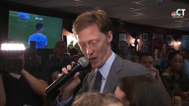 Elicker Addresses Supporters After Claiming Victory in New Haven Primary