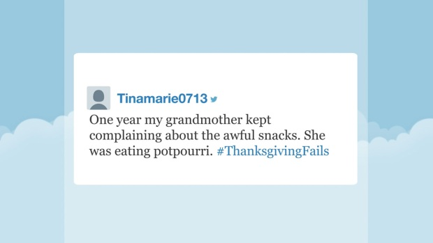 [NATL] 'Tonight' Hashtags: #ThanksgivingFails