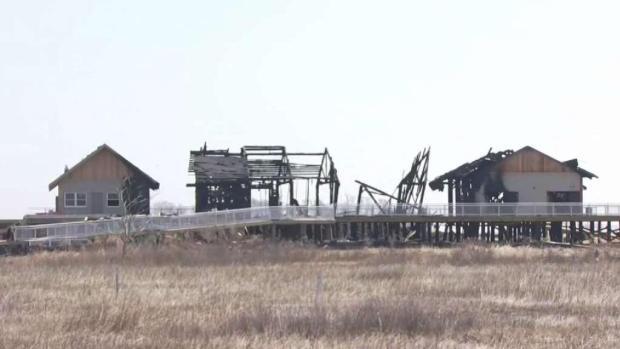 Fire Destroys Buildings at Silver Sands