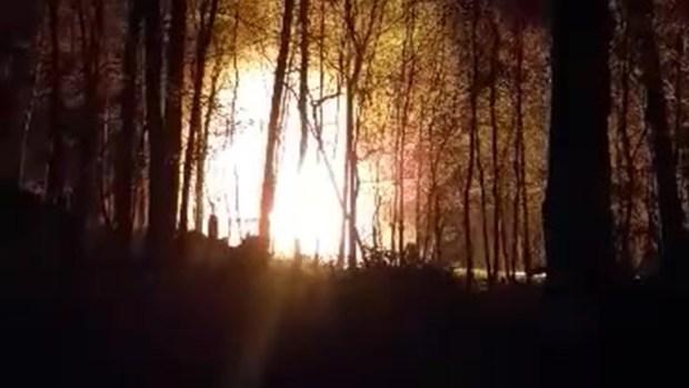 Raw Video of Newtown Fire