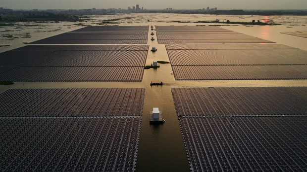 Top News China's Floating Solar Farm Project Kevin Frayer  Getty Images