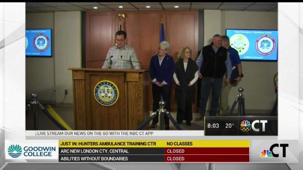[HAR] Governor Malloy Urges Drivers to Stay Home