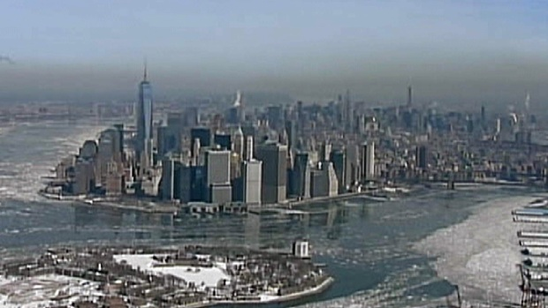 WATCH: Chopper 4 Catches Ice on the Hudson