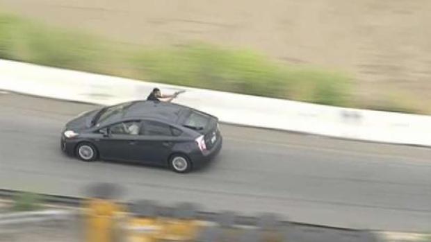 Intense Moments of Chase as Passenger Fires at Officers