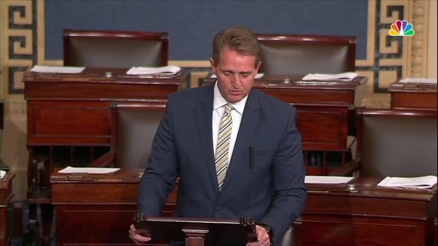 [NATL] 'Moral Vandalism': GOP Sen. Flake Criticizes Trump and Fake News Claims