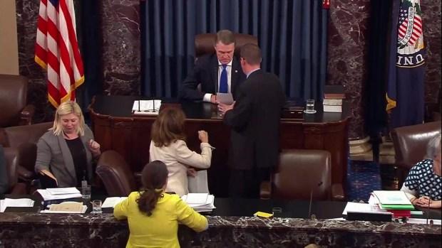[NATL] Raw: Gasps as McCain Goes Thumbs Down on Health Bill
