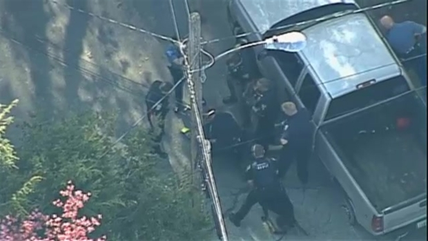 [NATL-NECN] AERIAL FOOTAGE: Police Arrest Suspect After Interstate Chase