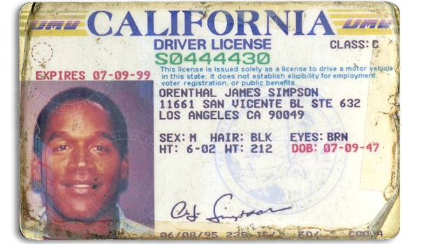 [NATL-LA]OJ Simpson's Driver's License, Issued During Murder Trial, to Be Auctioned