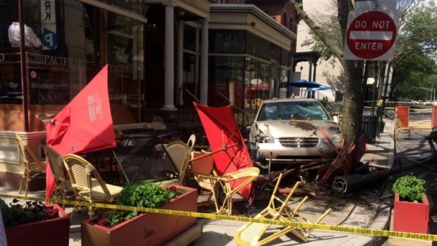 Car Crashes At New Haven Restaurant