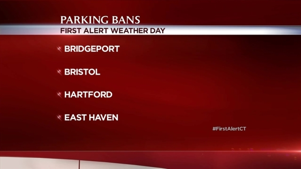 Parking Bans During Monday Snowstorm