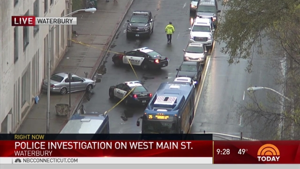 [HAR] Police Surround Vehicle on Sidewalk in Waterbury