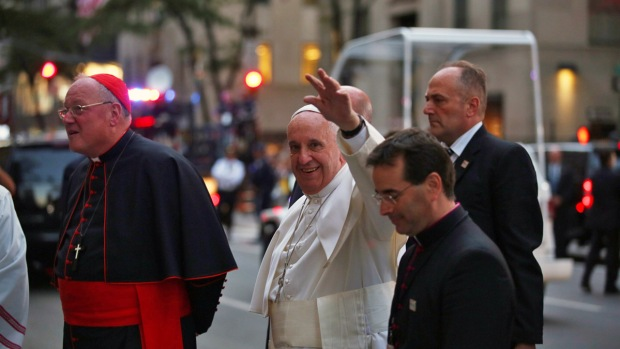 Pope Arrives in New York City
