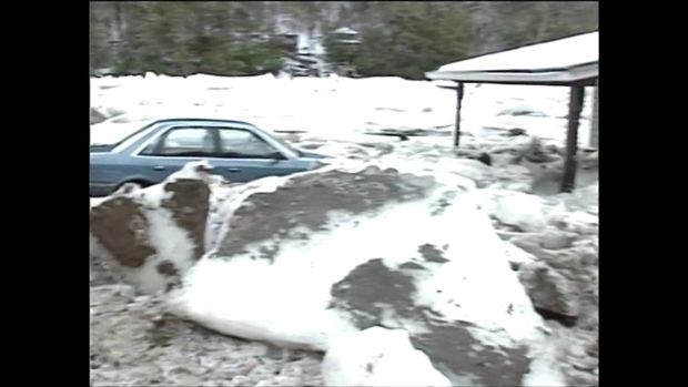 Southbury Pomperaug Ice Jams in 1994