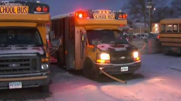 School Bus Drivers Get Buses Ready