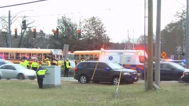 [HAR] Several Transported After School Bus Crash in South Windsor