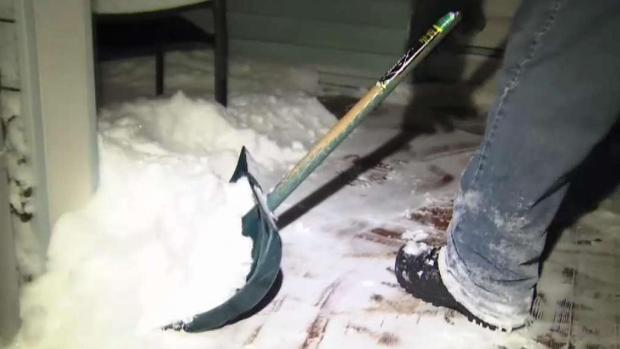 Shoveling Heavy Snow Poses Health Risks